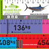 Black blue marlin weight estimating release ruler fish