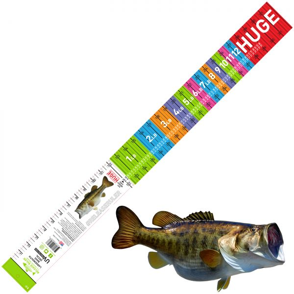 largemouth bass ruler decal