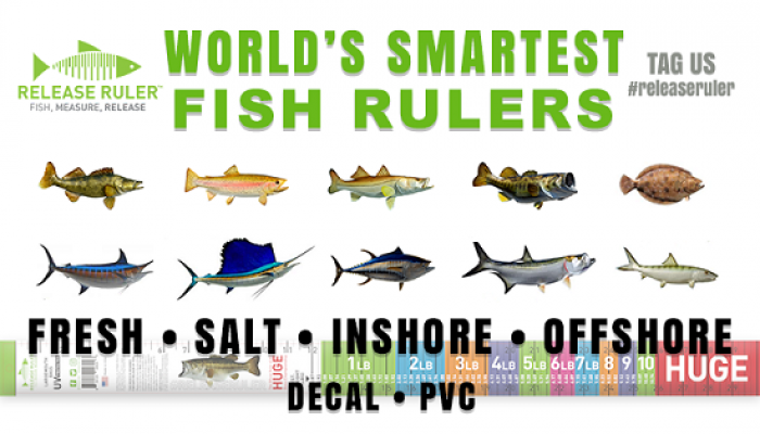Release Ruler - Weight estimating fish ruler based on length