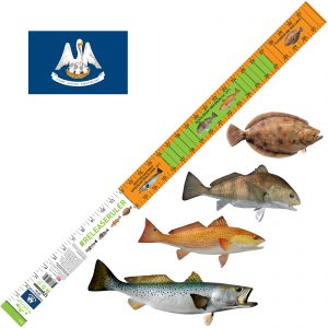 Louisiana Fishing ruler for trout, redfish, flounder and drum